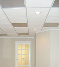 Basement Ceiling Tiles for a project we worked on in Newport, Massachusetts and Rhode Island
