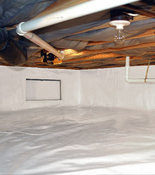 A complete crawl space repair system in Quincy