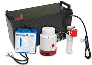 a battery backup sump pump system in Cape Cod