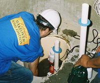 installing a sump pump and backup sump pump system in Hyannis, MA and RI