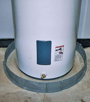 An old water heater in Pawtucket, MA and RI with flood protection installed
