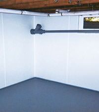 plastic basement wall panels installed in a cranston and rhode island home